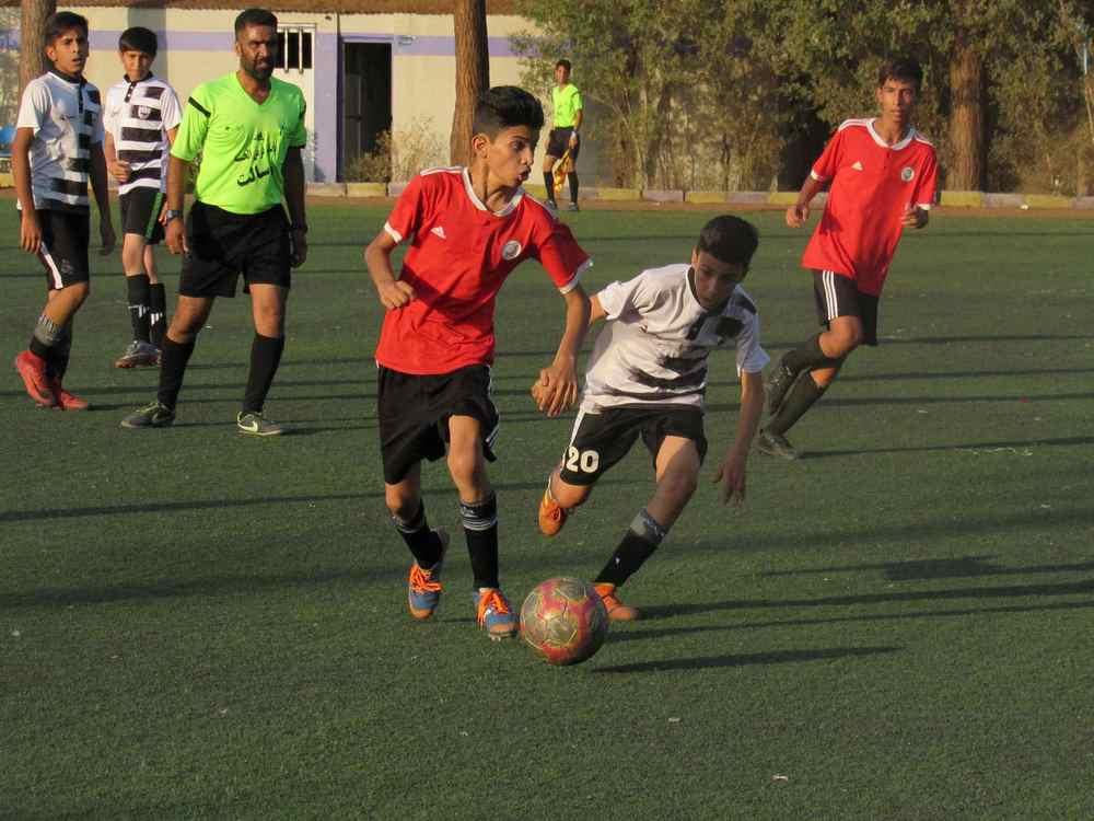 گزارش تصویری: دیدار رفت مرحله یک چهارم نهایی لیگ قهرمانی نونهالان استان/ شاهین - شهرداری زرند
