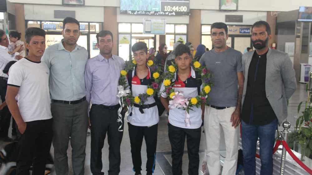 استقبال از بازیکنان شاهین حاضر در المپیاد کشوری